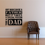 Special Dad Quote Decal
