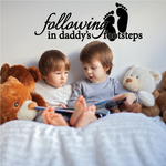 Daddys Footsteps Decal