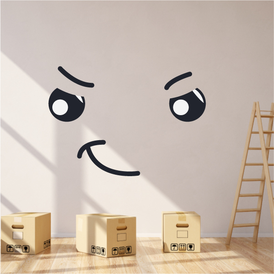 Devious Face Expression Wall Decal - Vinyl Decal - Car Decal - Idcolor010