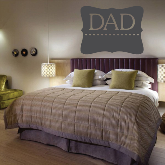Dad Label Style Decal