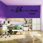 My Life is My Message Gandhi Quote Decal