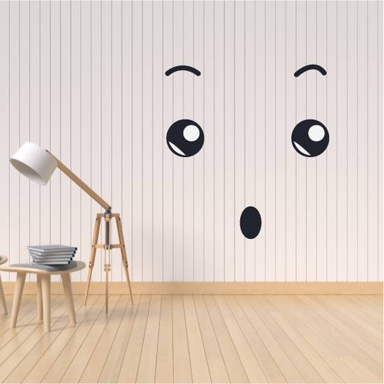 Surprised Face Expression Wall Decal - Vinyl Decal - Car Decal - Idcolor013