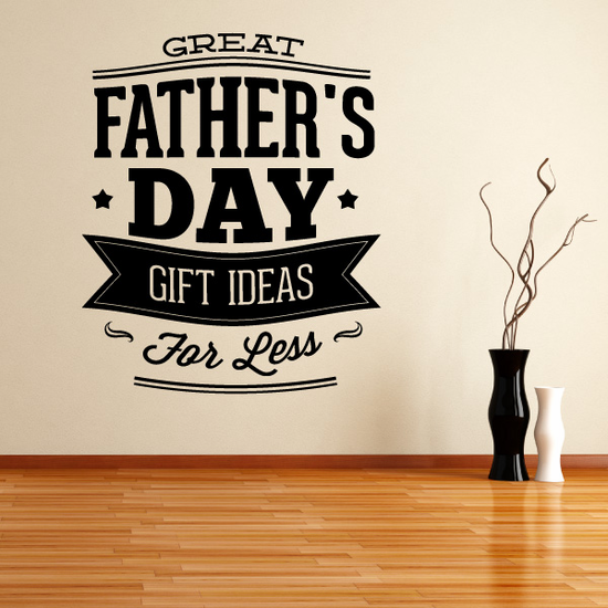 Great Father's Day For Less Retail Decal