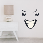 Face Expression Evil Wall Decal - Vinyl Decal - Car Decal - Idcolor025