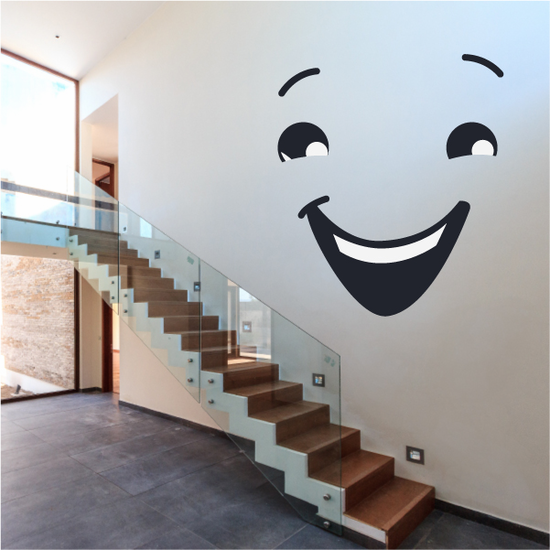 Face Expression Laughing Wall Decal - Vinyl Decal - Car Decal - Idcolor030