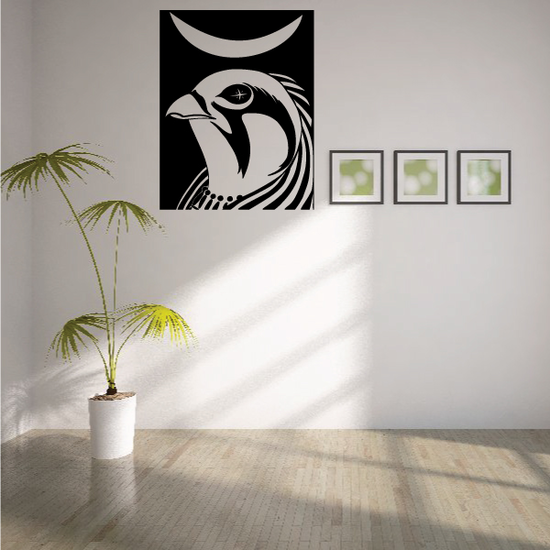 Ra Falcon Egyptian Wall Decal - Vinyl Decal - Car Decal - MC66