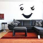 Confident Face Expression Wall Decal - Vinyl Decal - Car Decal - Idcolor041