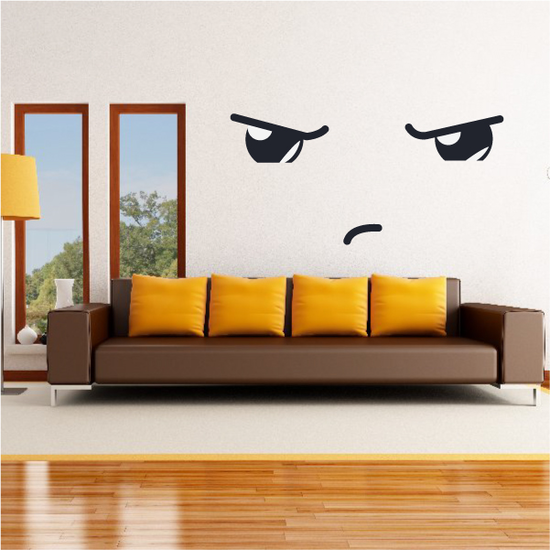 Tough Face Expression Wall Decal - Vinyl Decal - Car Decal - Idcolor042