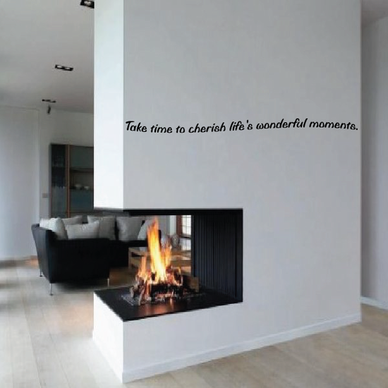 Take time to cherish lifes wonderful moments Wall Decal