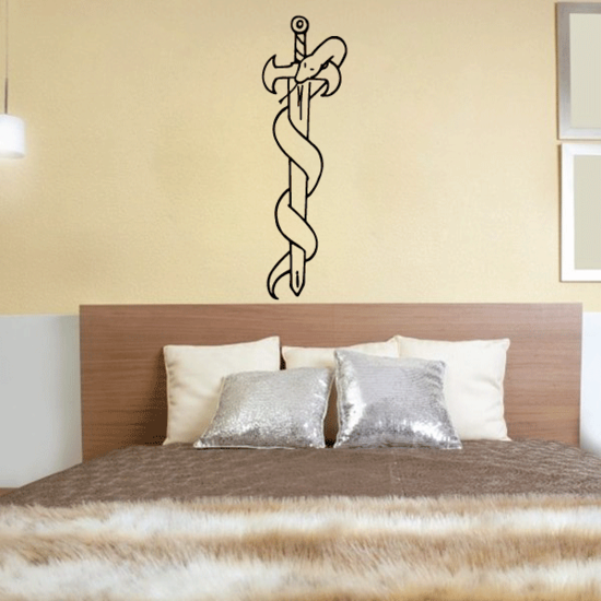 Asclepius Sword and Snake Decal