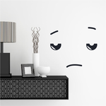 Sad Face Expression Wall Decal - Vinyl Decal - Car Decal - Idcolor047