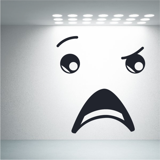 Confused Face Expression Wall Decal - Vinyl Decal - Car Decal - Idcolor050