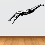 Swimmer Diving into Pool Decal