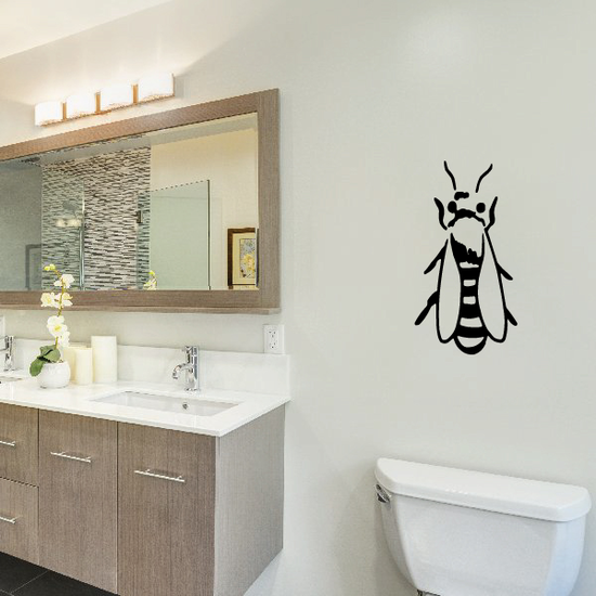 Resting Bee Decal