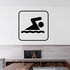 Swimming Sign Decal