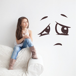 Depressed Face Expression Wall Decal - Vinyl Decal - Car Decal - Idcolor055