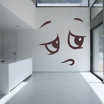 Embarassed Face Expression Wall Decal - Vinyl Decal - Car Decal - Idcolor056