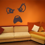 Furious Face Expression Wall Decal - Vinyl Decal - Car Decal - Idcolor059