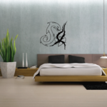 Snake with Vine Heart Decal