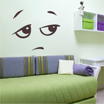 Bored Face Expression Wall Decal - Vinyl Decal - Car Decal - Idcolor061