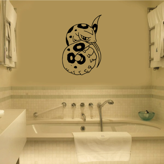 Curled Boa Constrictor Decal