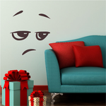 Really Face Expression Wall Decal - Vinyl Decal - Car Decal - Idcolor068