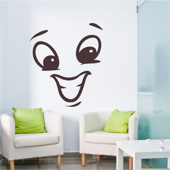 Hyped Face Expression Wall Decal - Vinyl Decal - Car Decal - Idcolor069