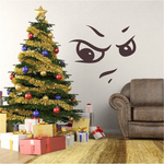 Grumpy Face Expression Wall Decal - Vinyl Decal - Car Decal - Idcolor070