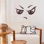 Brat Face Expression Wall Decal - Vinyl Decal - Car Decal - Idcolor074