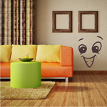 Excited Face Expression Wall Decal - Vinyl Decal - Car Decal - Idcolor081