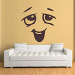 Relaxed Face Expression Wall Decal - Vinyl Decal - Car Decal - Idcolor082