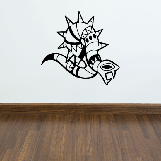 Spiky Abstract Snake Decal