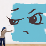 Shut Tight  Face Expression Wall Decal - Vinyl Decal - Car Decal - Idcolor087