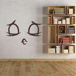 Kissing Face Expression Wall Decal - Vinyl Decal - Car Decal - Idcolor088