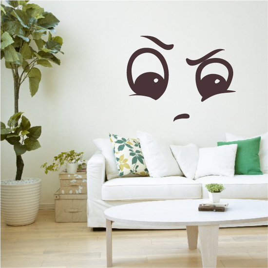 Tough Face Expression Wall Decal - Vinyl Decal - Car Decal - Idcolor092