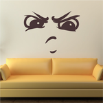 Intimidating Face Expression Wall Decal - Vinyl Decal - Car Decal - Idcolor093