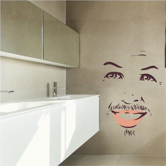 Face Expression Male Wall Decal - Vinyl Decal - Car Decal - Idcolor001
