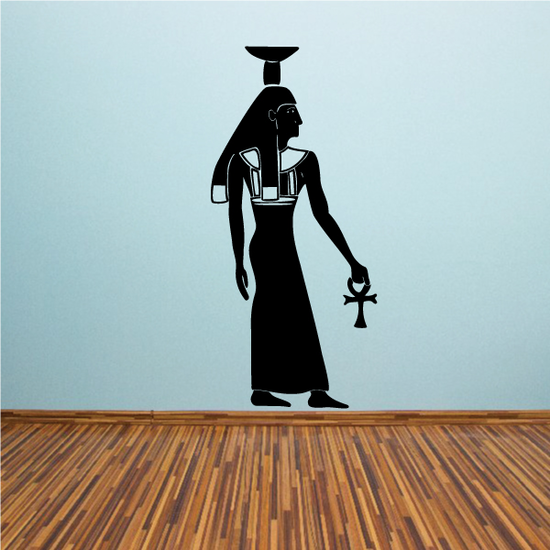 Priest Carrying Ankh Egyptian Wall Decal - Vinyl Decal - Car Decal - MC74