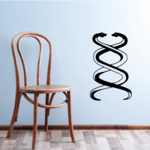 Interlocking Double Snakes Decal