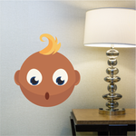 Baby Face Emoticon Wall Decal - Vinyl Sticker - Car Sticker - IDCOLOR014