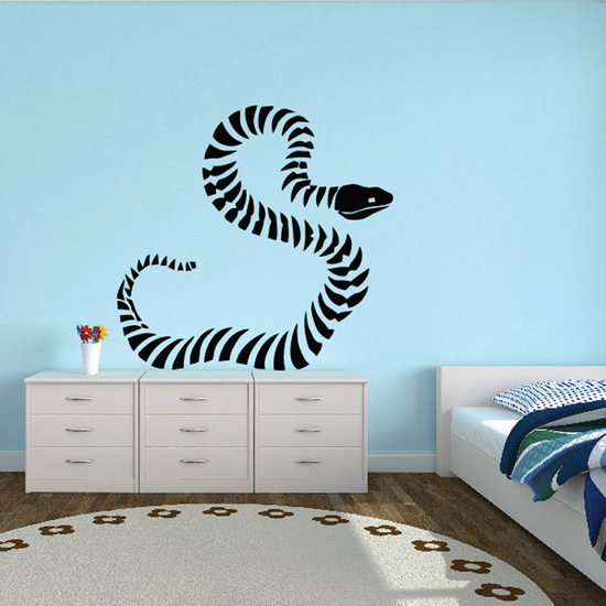 Striped Snake Decal