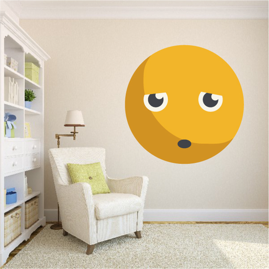 Emoticon Sad NFace Wall Decal - Vinyl Decal - Car Decal - Idcolor014