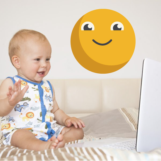 Emoticon Happy Face Wall Decal - Vinyl Decal - Car Decal - Idcolor021