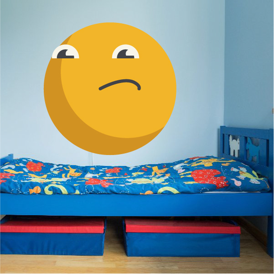 Emoticon Face Wall Decal - Vinyl Decal - Car Decal - Idcolor023