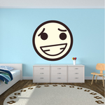 Emoticon Nervous Face  Wall Decal - Vinyl Decal - Car Decal - Idcolor057