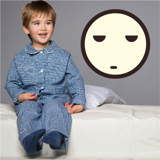 Emoticon Bored Face Wall Decal - Vinyl Decal - Car Decal - Idcolor061