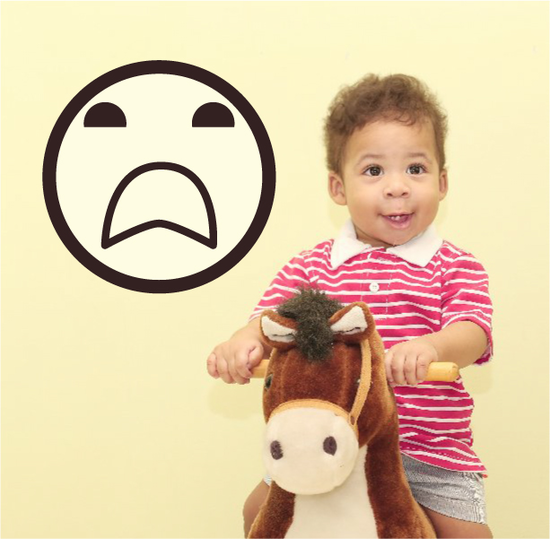 Emoticon Disgusted Face Wall Decal - Vinyl Decal - Car Decal - Idcolor066