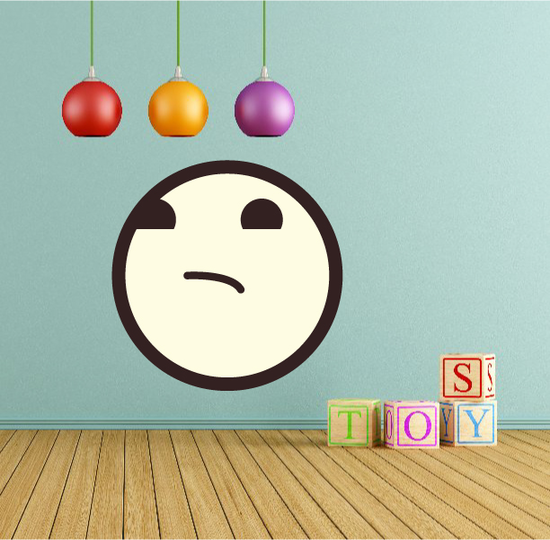 Emoticon Smell Face Wall Decal - Vinyl Decal - Car Decal - Idcolor067