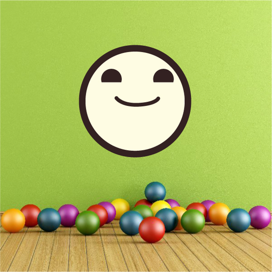 Emoticon Proud Wall Decal - Vinyl Decal - Car Decal - Idcolor071