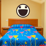 Emoticon Excirted Face Wall Decal - Vinyl Decal - Car Decal - Idcolor081